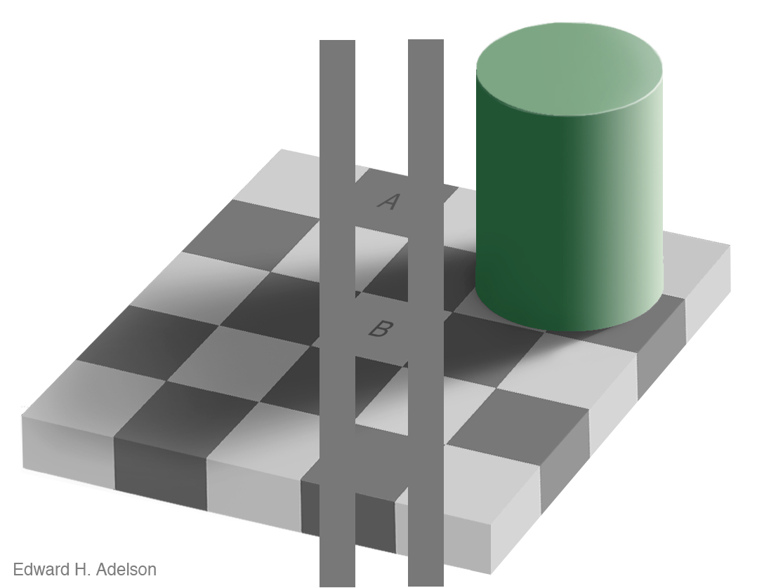 Edward Adelson's Checker Shadow Optical Illusion