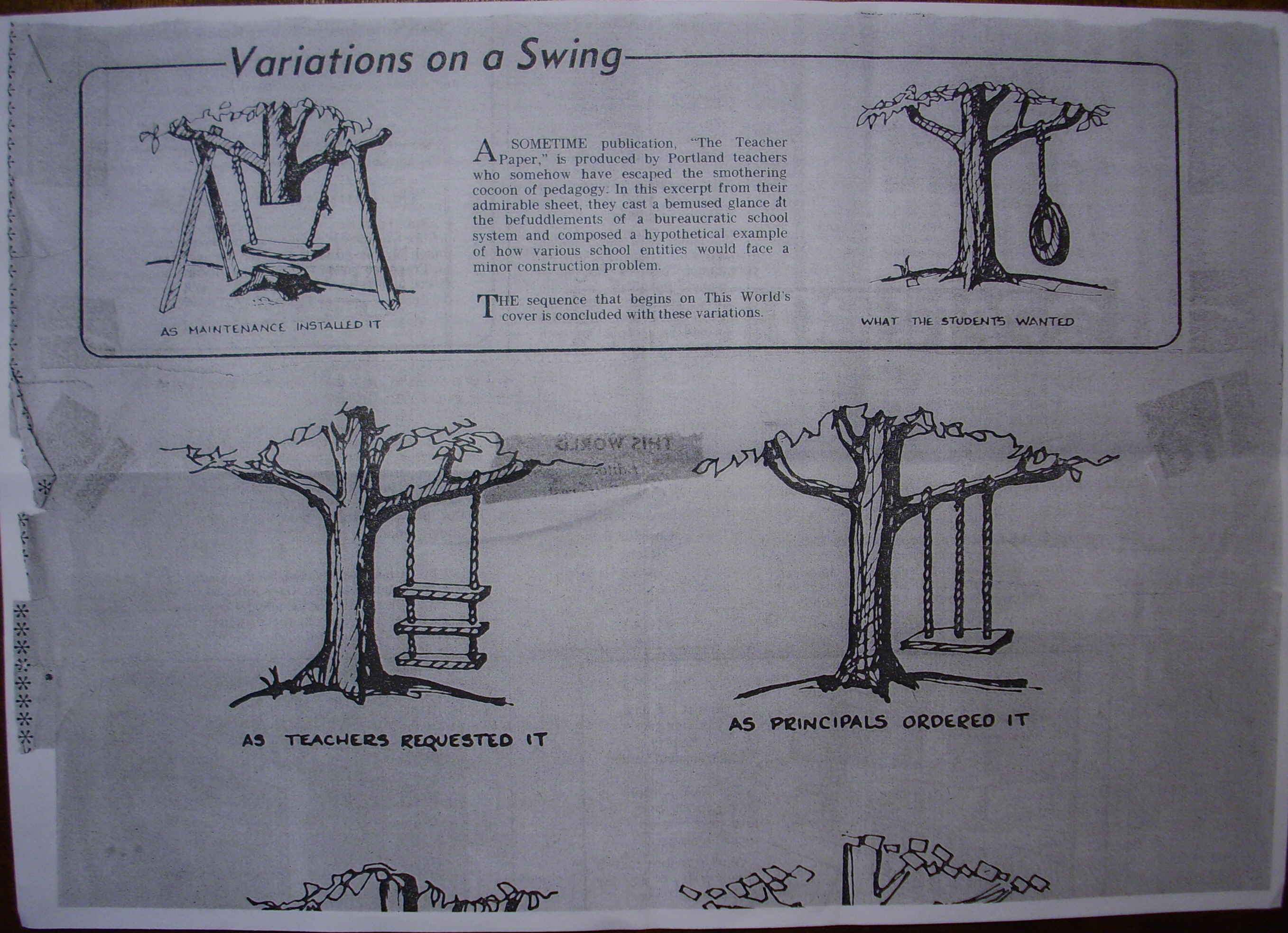 tree swing cartoons san francisco examiner