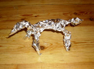 baking foil animals exercises