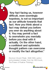 Norman Vincent Peale 'positive thinking' quote