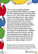 Anthony Seldon quote - children, schools, learning
