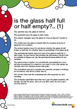is the glass half full or half empty quotes 1